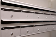 Mailboxs in apartment building Royalty Free Stock Photography
