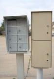 Mailboxs naast de weg Royalty-vrije Stock Afbeelding