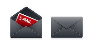 Mailen Sie Ikone Stockbild