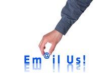 Mailen Sie uns! lizenzfreies stockbild