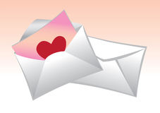 Mailer with love Royalty Free Stock Photography