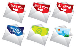 Mailer messages Stock Photography