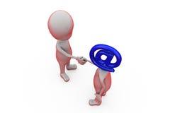 mailheadbegrepp för man 3d Arkivfoto