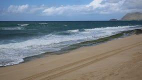 Maili Beach stock video footage