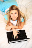 Mailing girl Stock Images