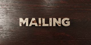 Mailing - grungy wooden headline on Maple  - 3D rendered royalty free stock image. This image can be used for an online website banner ad or a print postcard Stock Photography