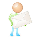 Mailing humanoid Royalty Free Stock Images