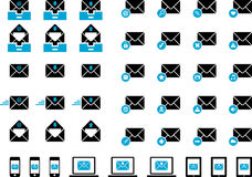 Mailing icons Stock Photography
