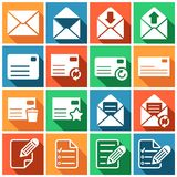 Mailing icons Royalty Free Stock Photo