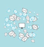 Mailing list concept Stock Images