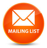 Mailing list elegant orange round button Royalty Free Stock Photography