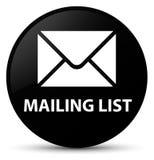 Mailing list black round button Stock Photo