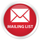 Mailing list premium red round button Stock Photo