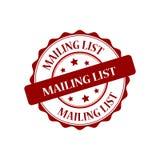 Mailing list stamp illustration. Mailing list red stamp seal illustration design Royalty Free Stock Photography