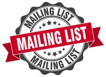 Mailing list seal Stock Photo