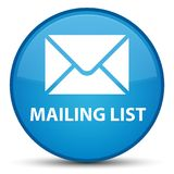Mailing list special cyan blue round button Royalty Free Stock Photos