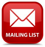 Mailing list special red square button Stock Photo
