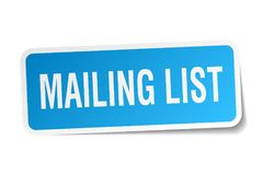 Mailing list sticker Stock Photography