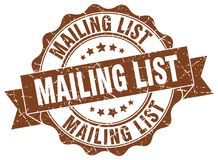 Mailing list stamp.  seal Stock Photography