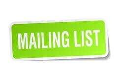 Mailing list sticker Stock Photo