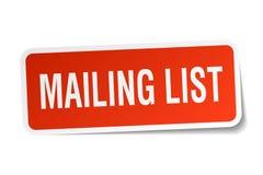 Mailing list sticker Stock Image