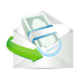 Mailing payment. concept Stock Images