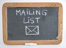 Mailinglist stock image