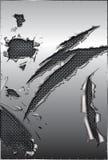 Maille déchirée en métal et d'acier illustration de vecteur