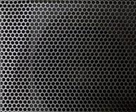 Maille de gris en acier avec des trous photos libres de droits