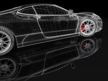 maille de la voiture 3D sur un noir illustration libre de droits