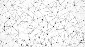 Maille de rangée de données Structure de noeud Texture moléculaire de maille Fond abstrait futuriste de Digital Vecteur Images libres de droits