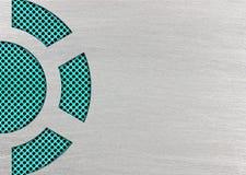 Maille de turquoise ou de sarcelle d'hiver avec les plaques de métal, 3d, illustration Image libre de droits