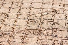 Maille en métal sur le sable Photo libre de droits