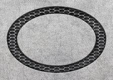 Maille noire en métal avec les plats en aluminium, texture de fond, 3d, I illustration stock
