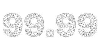 Maille polygonale 99 L?gende des 99 textes illustration de vecteur