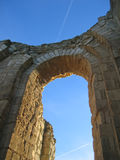 Maillezais french abbey. Detail of the Maillezais french abbey arch - France Stock Photography