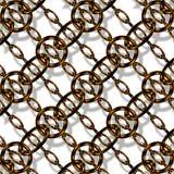 Maillon de chaîne de cuivre Image stock