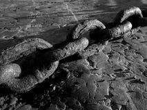 Maillons de chaîne épais Image stock