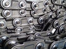 Maillons de chaîne d'ascenseur de seau - avant installation Photographie stock libre de droits