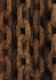 Maillons de chaînes rouillés de fer images libres de droits