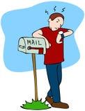 Mailman de espera ilustração stock
