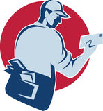 Mailman Postal Worker Delivery Man Royalty Free Stock Photos
