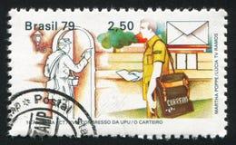 Mailmen mundury drukujący Brazylia obraz royalty free