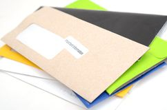 Mails and bills Royalty Free Stock Photography