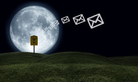 Mails moon Stock Photo