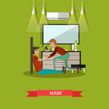 Maim concept vector illustration in flat style Stock Image