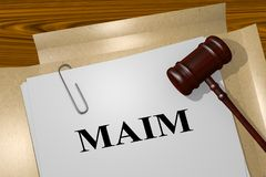 MAIM - legal concept Royalty Free Stock Photos