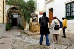 Maimonides, еврейский врач и философ, Cordoba, Испания Стоковое Изображение RF