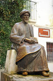 Maimonides, Jewish physician and philosopher, Cordoba, Spain. Statue of Maimonides, famous jewish philosopher born in Cordoba, Spain royalty free stock image