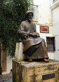 Maimonides, Jewish physician and philosopher, Cordoba, Spain. Statue of Maimonides, famous jewish philosopher born in Cordoba, Spain stock photo